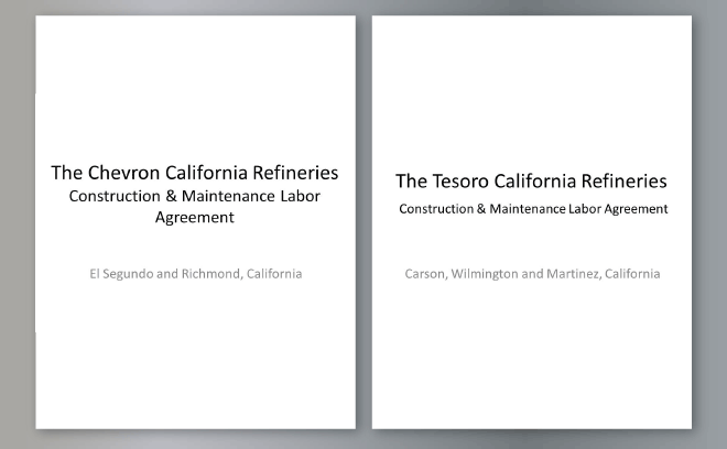 IBEW 11, STATE BUILDING TRADES FORGE PLA WITH CALIFORNIA REFINERIES