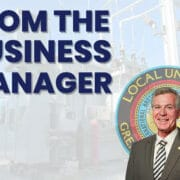 Business Manager's Message — March 2021