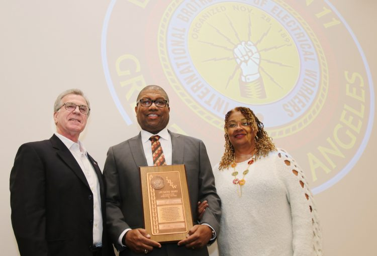 IBEW Recognizes Eric Brown for Life Saving Heroics