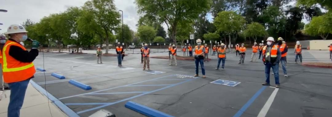 Video: IBEW 11 On Site at Kaiser Permanente in Woodland Hills – April 8, 2020